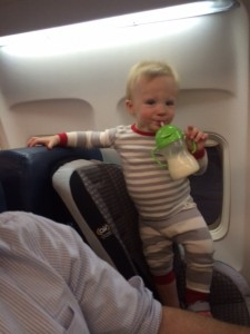 Henry on his first plane ride!