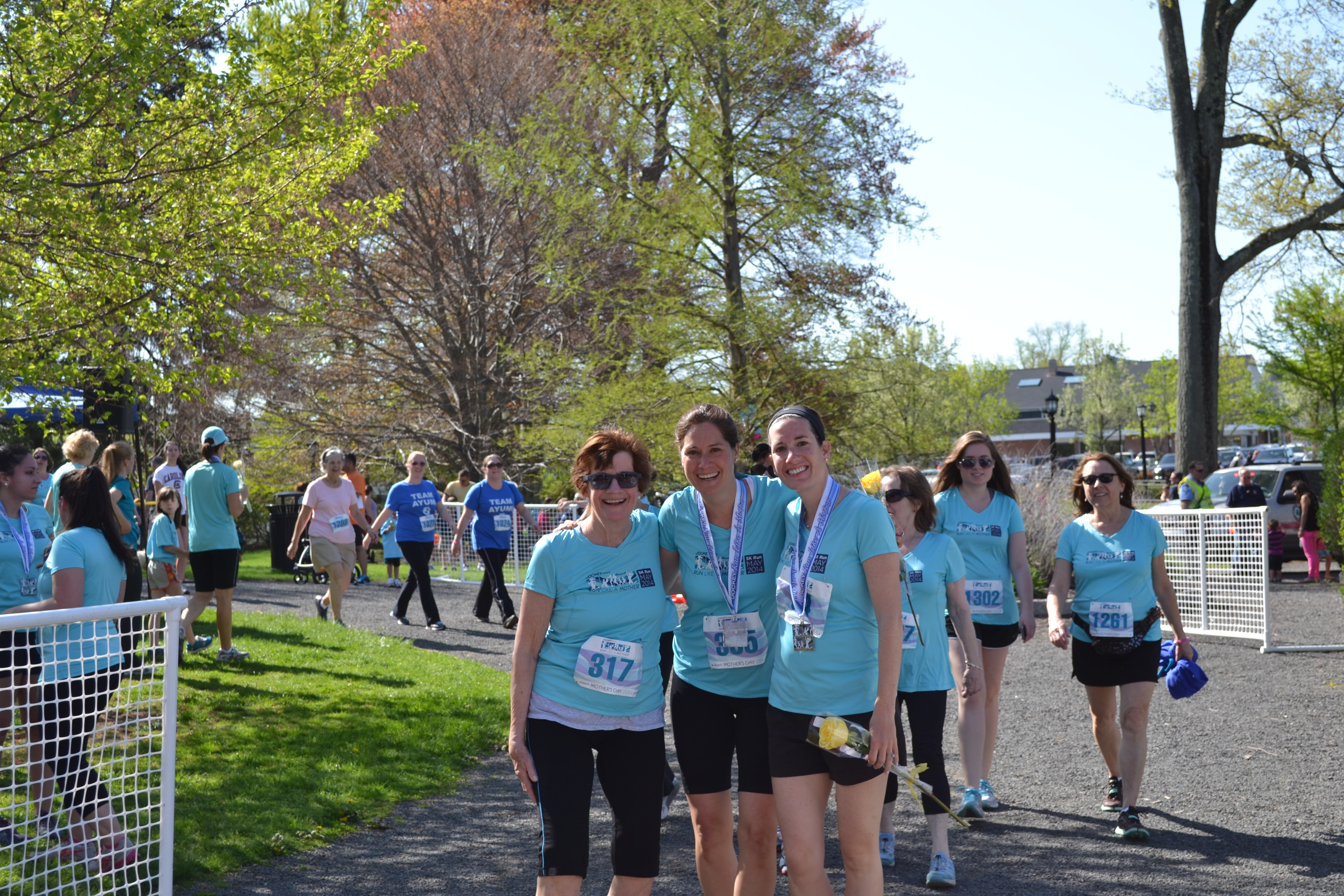"Myself, my mother and my sister after we ran/walked a 5k in Ridgefield, CT called ""Run Like a Mother"""