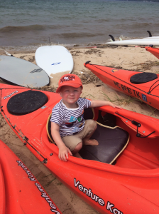 Our little man goes kayak shopping